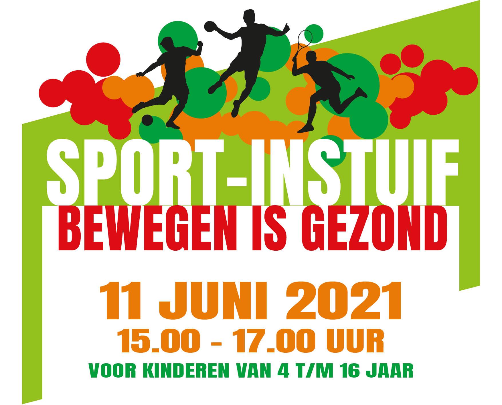 Sportinstuif 'Bewegen is gezond!'