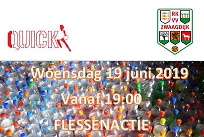 Statiegeld actie RKVV Zwaagdijk & HV Quick 19 juni